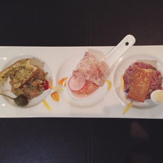 Tartare represented three ways